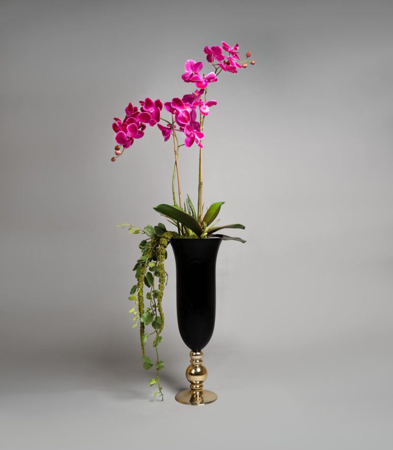Hot Pink Orchids in vase