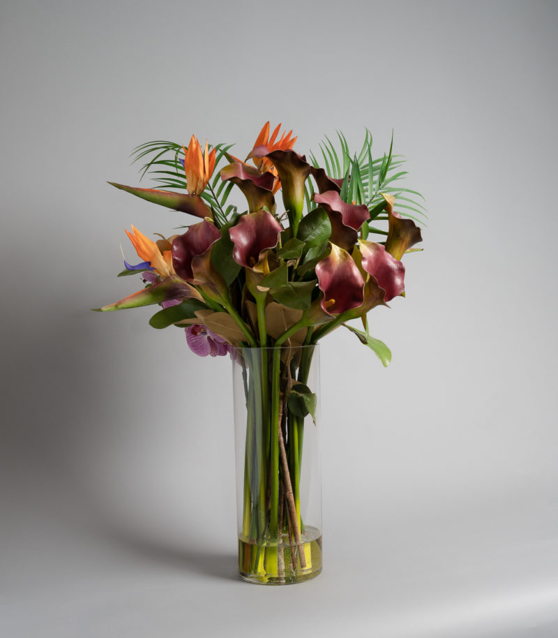 Artificial bird of paradise arrangement