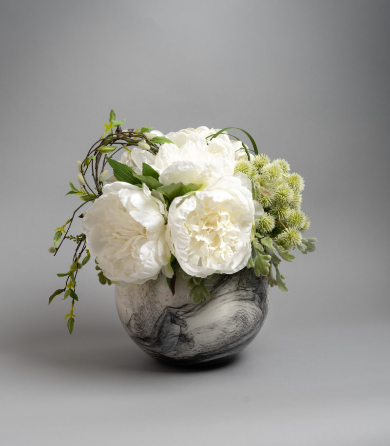 White peony flower arrangement